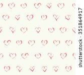 doodle seamless patterns.... | Shutterstock . vector #351864917
