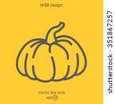 web line icon. pumpkin   Shutterstock .eps vector #351867257