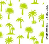 palm tree seamless pattern... | Shutterstock . vector #351872837