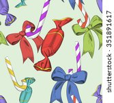 seamless pattern of holiday...   Shutterstock .eps vector #351891617