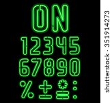 Neon Font Part 2 Of 2  Numbers...