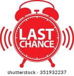 last chance alarm clock icon ...