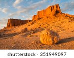 flaming cliffs  bayanzag  on...   Shutterstock . vector #351949097