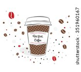 simple vector paper coffee cup...