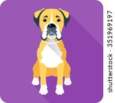 Vector Serious Dog Boxer...
