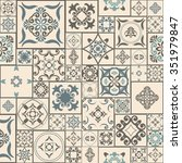 tile pattern from retro blue... | Shutterstock .eps vector #351979847