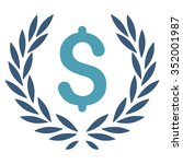 laurel bank emblem vector icon. ... | Shutterstock .eps vector #352001987