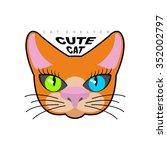 cute cat. logo for  kitty...   Shutterstock . vector #352002797