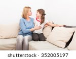 beautiful mother and daughter... | Shutterstock . vector #352005197