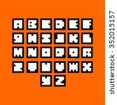 vector creative pixel alphabet | Shutterstock .eps vector #352015157