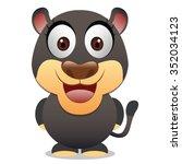leopard cartoon   dark friendly ... | Shutterstock .eps vector #352034123