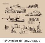transport logistics | Shutterstock .eps vector #352048073