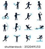 sports symbol for web icons | Shutterstock .eps vector #352049153