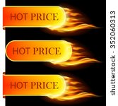 burning with fire design sale...   Shutterstock .eps vector #352060313