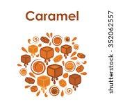 circle design for caramel flavor | Shutterstock .eps vector #352062557