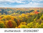 aerial view of autumn forest. | Shutterstock . vector #352062887