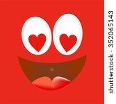 joyful loving a smiling face...   Shutterstock .eps vector #352065143