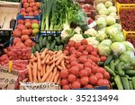 fruits and vegetables at the... | Shutterstock . vector #35213494