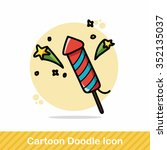 birthday cracker doodle | Shutterstock .eps vector #352135037