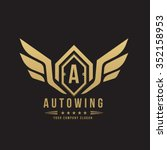 auto wing automotive logo... | Shutterstock .eps vector #352158953