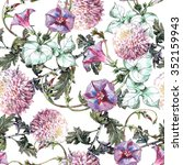 chrysanthemum  ipomoea flowers... | Shutterstock . vector #352159943