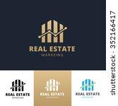real estate marketing logo... | Shutterstock .eps vector #352166417