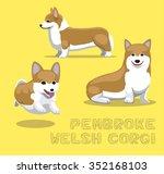 dog pembroke welsh corgi... | Shutterstock .eps vector #352168103