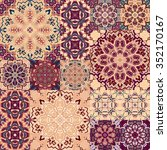 large set of colorful vintage... | Shutterstock .eps vector #352170167