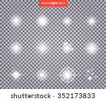 set glows bright star light... | Shutterstock .eps vector #352173833