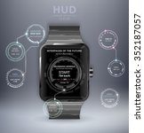 smart watch with hud ui. hud...