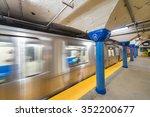 Train Fast Moving In Hoboken...