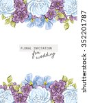 invitation with floral... | Shutterstock .eps vector #352201787