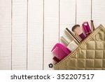 beautiful make up bag with...   Shutterstock . vector #352207517