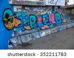 beautiful street art of... | Shutterstock . vector #352211783