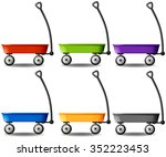wagons in different colors... | Shutterstock .eps vector #352223453