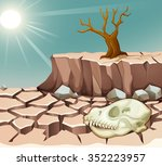 natural disaster with drought... | Shutterstock .eps vector #352223957