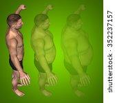 concept or conceptual 3d fat... | Shutterstock . vector #352237157