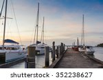 A Pier Yacht  In The Morning A...