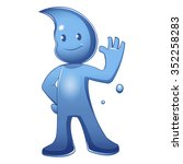 water cartoon mascot character | Shutterstock .eps vector #352258283