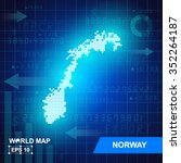 map of norway abstract... | Shutterstock .eps vector #352264187