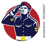 military soldier salute | Shutterstock .eps vector #352268327