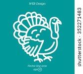 web line icon. turkey | Shutterstock .eps vector #352271483