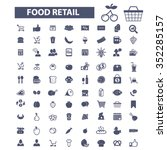 food  drinks  grocery  icons ... | Shutterstock .eps vector #352285157