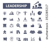 leadership  leader team ...   Shutterstock .eps vector #352285217