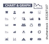 chart  graph  business... | Shutterstock .eps vector #352287107