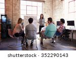 group of designers having... | Shutterstock . vector #352290143