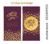elegant thank you card template ... | Shutterstock .eps vector #352309553