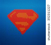 knitted superman vector...