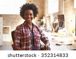 portrait of female designer... | Shutterstock . vector #352314833