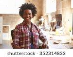 portrait of female designer...   Shutterstock . vector #352314833